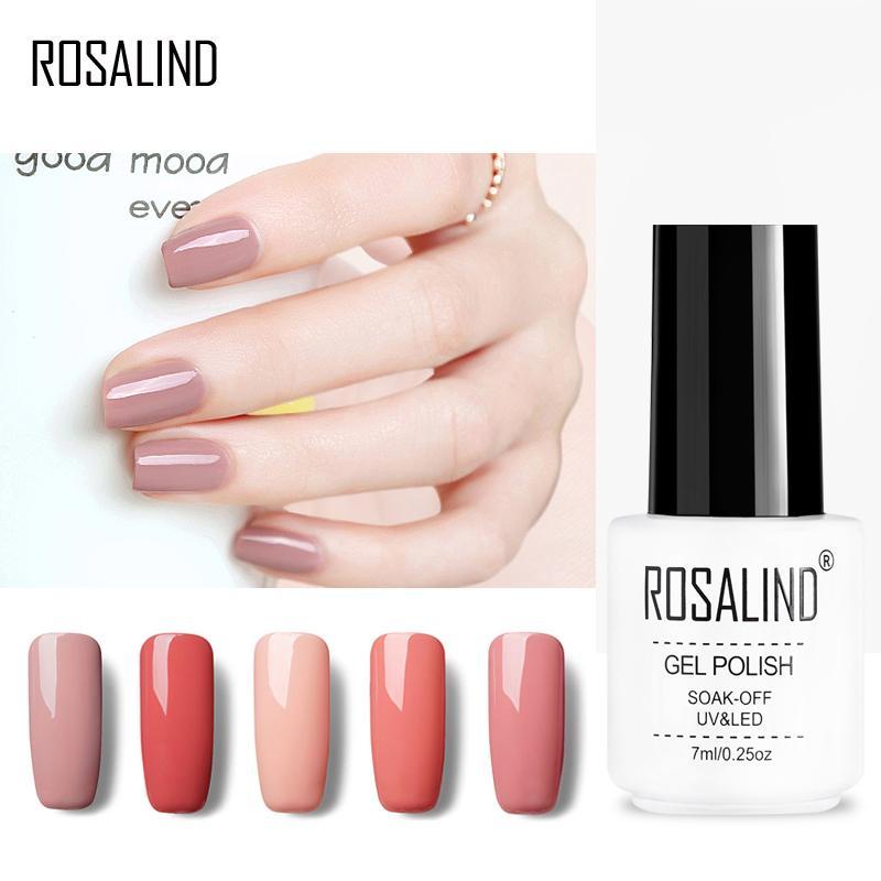 ROSALIND Gel 1S Nail Polish 30 Nude Colors Healthy Long Lasting Gel ...