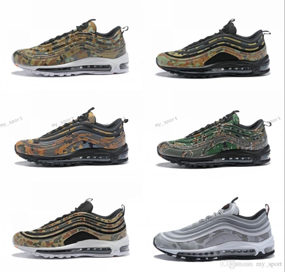 288327c6f3 2018 New 97 Country Camo Japan Italy UK Army Green Running Shoes Men 97s  Camouflage Ultra Bullet 3M Premium Zoom Trainers Sneakers 36 46 Running  Store ...