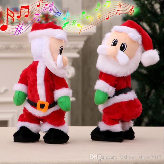 1c4d67f8637 Electric Twerk Santa Claus Toy Xmas Music Singing Dancing Twisted Wiggle  Hip Doll Christmas Home Decoration Kids Gifts Christmas Toy Charities Best  Toys For ...
