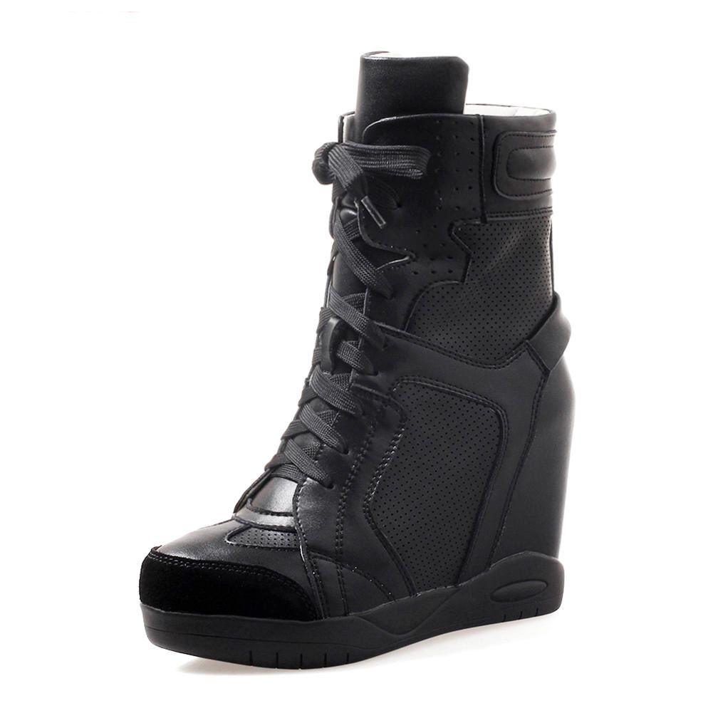 62eee2a6314f0 Acheter Top Qualité Talons Hauts Femmes Botte Femmes Chaussures Femme  Bottines Lacets Sneaker Botte Femme Chaussures De  80.41 Du Tianjinbusiness    DHgate.