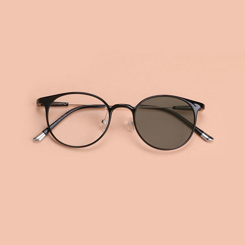 745c8494329 2019 Korean Version Of Ultra Light Thin Tr90 Men And Women Literary Round  Frame Light Induced Gray Glasses Frame JW From Huazu