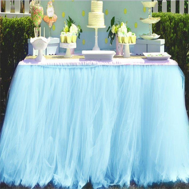 2018 Home Textiles Wedding Party Tulle Tutu Table Skirt Birthday