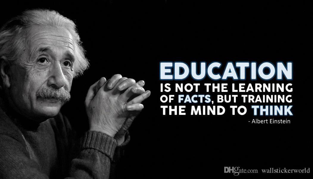 2018 Education Albert Einstein Quotes Motivational Poster ...  Albert Einstein Quotes About Education