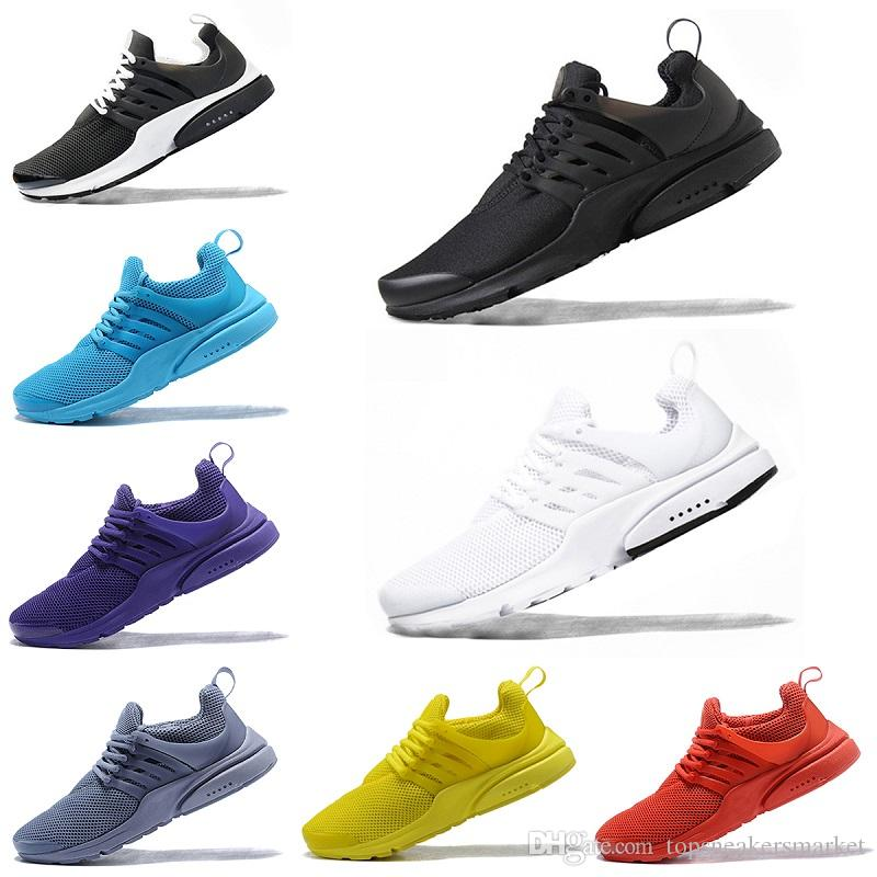 2018 Mens Womens Presto Running Shoes BR QS Triple White Black Red Yellow  Oreo Blue Grey Breathable Mesh Casual Sports Sneakers Size 36 45 Top  Running Shoes ... 717a4c13c3