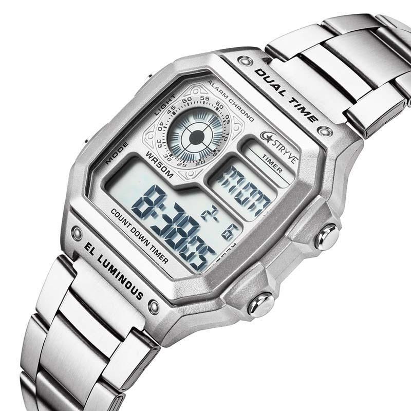 gran venta 91ca7 f6855 Reloj deportivo para hombres Moda juvenil Reloj digital Relojes  multifunciones a prueba de agua Relojes electrónicos Relojes comerciales  Relojes
