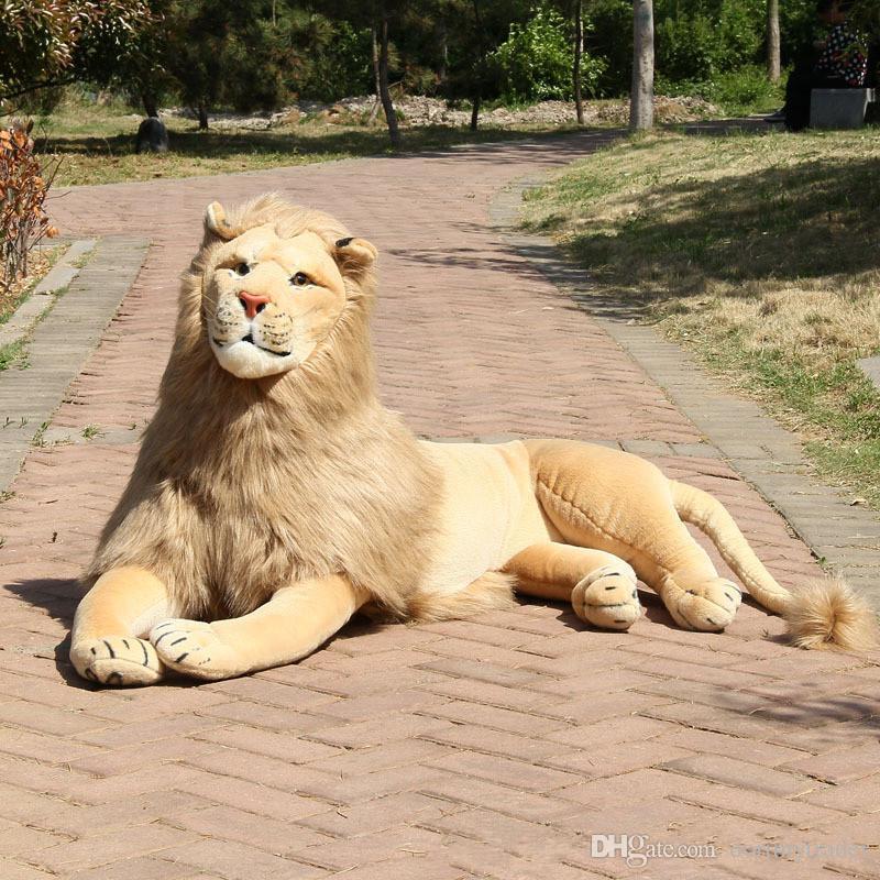2019 Dorimytrader Large Simulation Forest Animal Lion Plush Toy