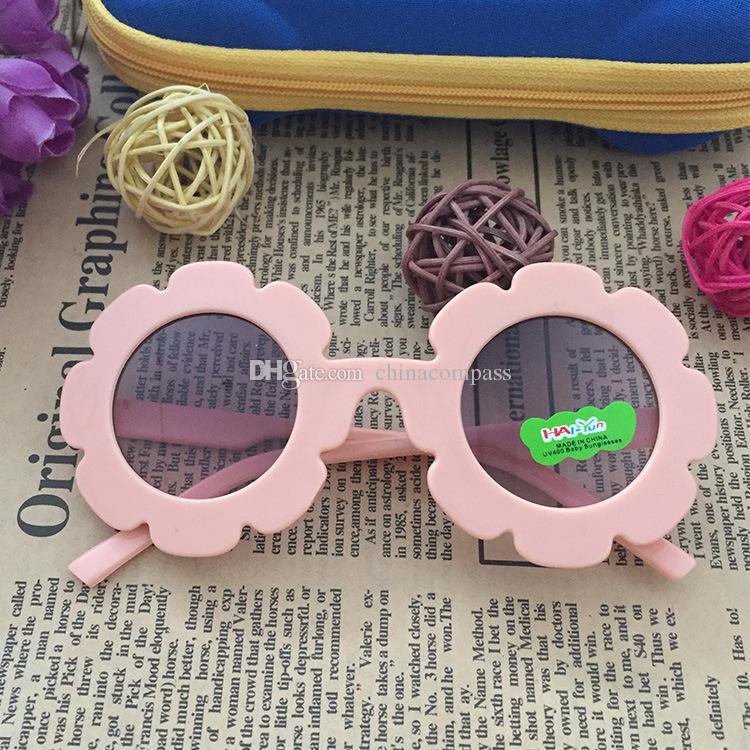 252276211ea6 DHL 2018 Girl Sunglasses Child Round Flower Sun Glasses Eyewear Kids Baby Sun  Glasses Boys Girls Student Kid Sunglasses Bolle Sunglasses Electric  Sunglasses ...