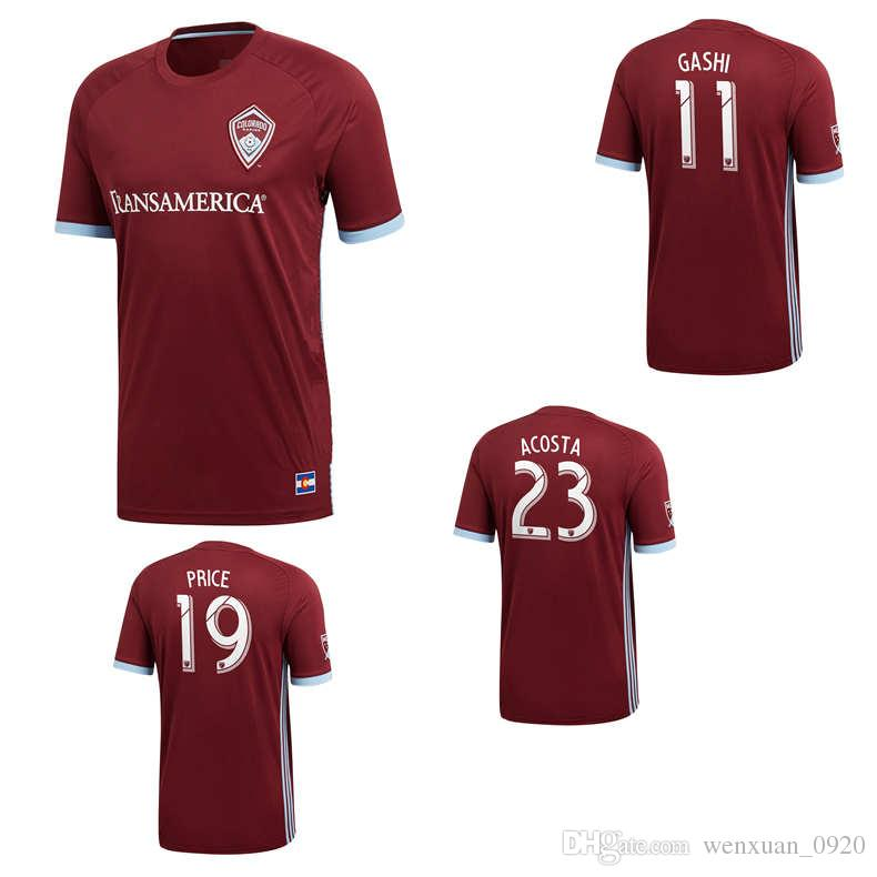 save off 2ad2f 6d53b 2018 2019 Colorado soccer jersey home away 18 19 thai quality Rapids  football shirts