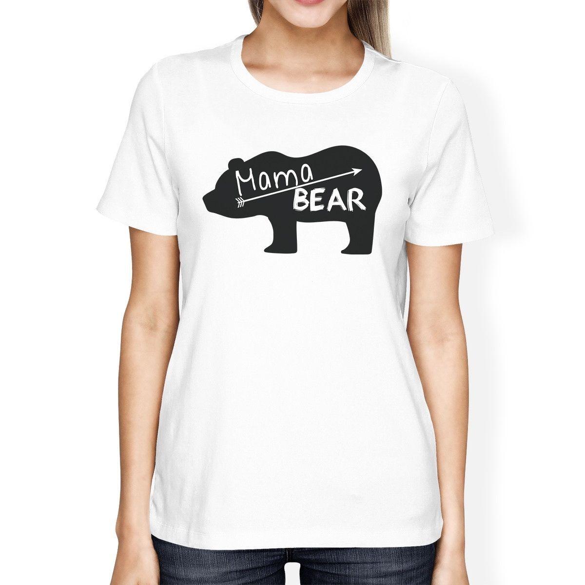 c2ab7800b1ca Women S Tee Mama Bear Women S White Short Sleeve Tee Trendy Design Graphic  Top T Shirt Women Summer Harajuku Punk Hipster T Shirt Tops Tee T Shirt  Sites ...