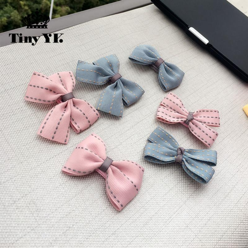 New Arrival Girl Kids Baby Bow Hairpins Bowknot Hair Clip Children Barrette Hair Accessories Full Cover Clips 10pcs