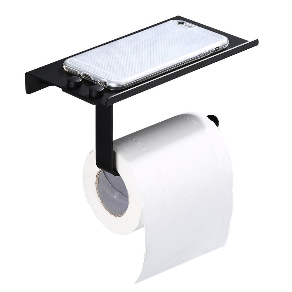 Gold B Blesiya Anti-Rust Wall Mount Toilet Paper Holder Towel Holder Tissue Roll Hanger Home Decor