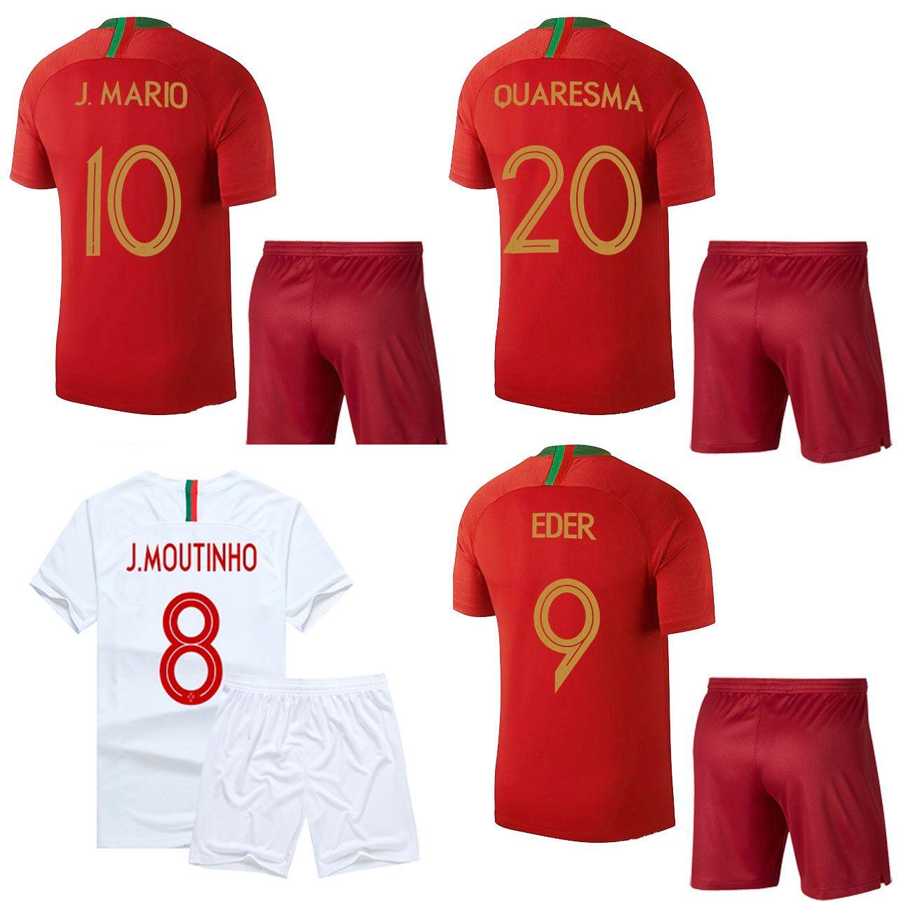 42451a1c8 2018 2019 MOUTINHO Soccer jersey Shorts World Cup 2018 National Team  Football Kits QUARESMA ANDRE SILVA short sleeve adult s sports uniform