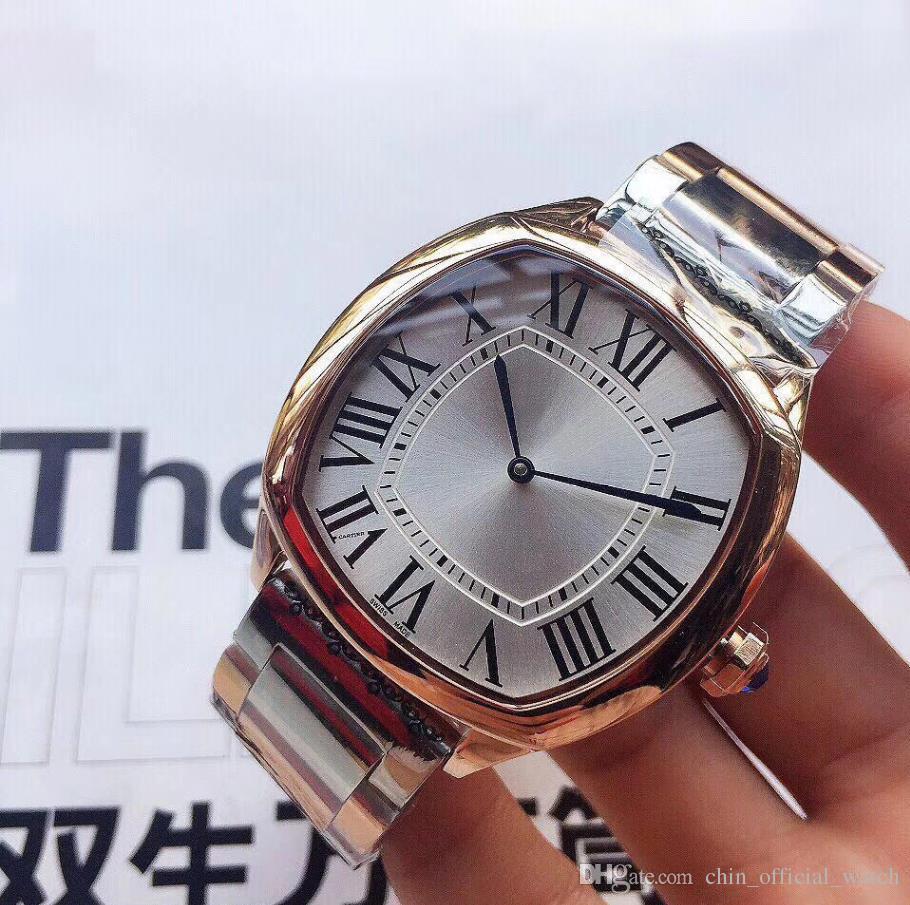 AAAA TOP Fashion stainless Steel Quartz Man watch Japan Movement watch gold  Wristwatches Life Waterproof Brand male clock Hot Items