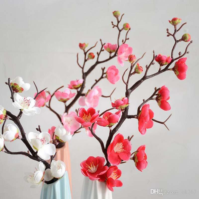2018 artificial silk flower mini cherry blossom sakura for wedding artificial silk flower mini cherry blossom sakura for wedding party table decor acessorise floral wholesale fake mightylinksfo