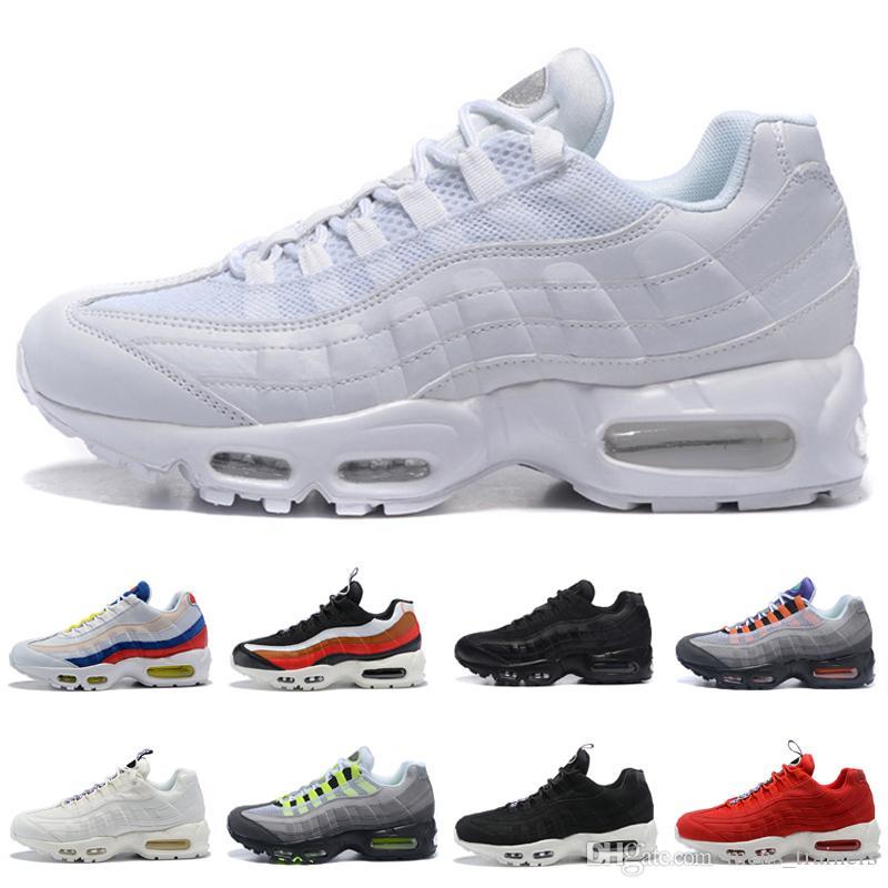 brand new 21e51 8f999 Compre Nike Air Max 95 Nuevo Diseñador Ultra Triple Negro Blanco 95 OG  Zapatos Para Correr Para Mujeres, Mujeres Y Hombres Clásicos Deportes 95s  Zapatillas ...