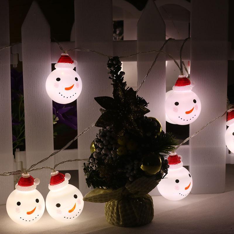 Großhandel Weihnachtsverzierungslampe Weihnachtsschneemann Led ...
