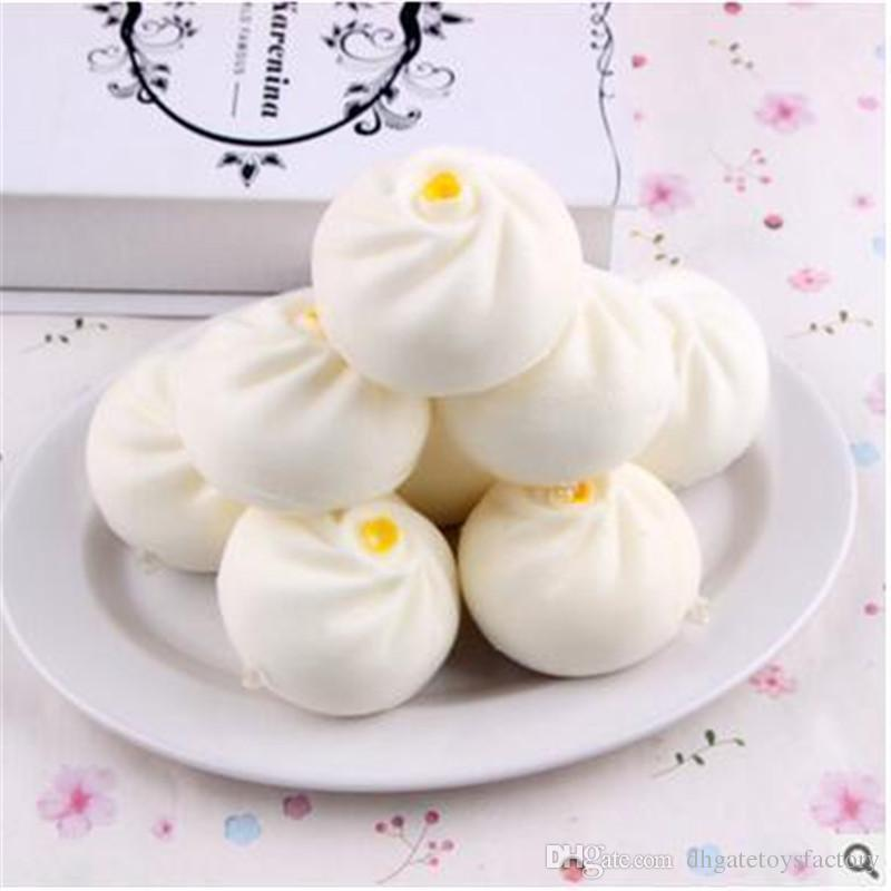 High Quality Kawaii Steamed Stuffed Bun Shaped Slow Rising Toys Hot Sale 6 cm China Traditional Food Shaped Cell Phone Decoration