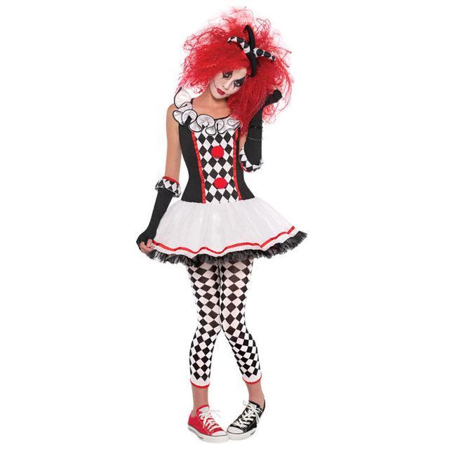 S XXL New Harley Quinn Honey Teens Joker Clown Circus Horror Costume  Halloween Ghosts Cosplay Fancy Dress Adult Women Halloween Costumes For  Kids Cheap ... d3fb3bfc413