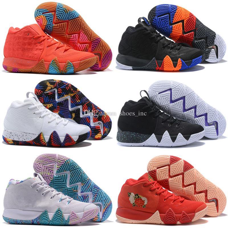 4s Kyrie IV Glücksbringer Damen Herren Basketballschuhe Top Qualität Irving 4 Konfetti Farbe Grün Designer Turnschuhe Sneakers Größe 36 46