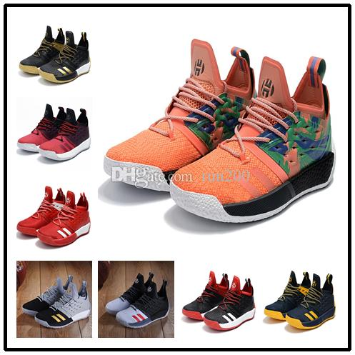 Top Quality Harden VOL 2 new shoe orange black boost cheap sales free shipping 2018 James Harden Basketball shoes store size US7-US11.5