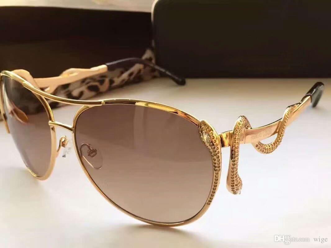 Designer Sun Eyewear Snake Glasses Women Fashion Summer Mimosa Sunglasses Sonnenbrille 909s Gold Stones S In Pilot 0wOnPk8