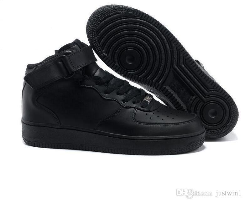 sneakers CORK Для MenWomen High Quality One 1 Кроссовки Low Cut All White Black Цвет Повседневные кроссовки Размер США 5.5-12