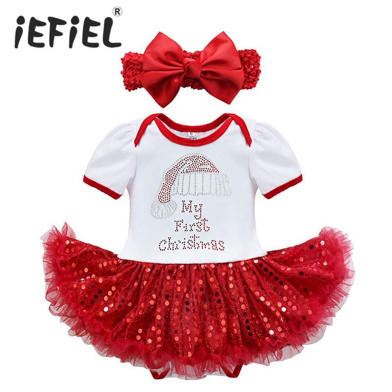 f56f3bb84 2019 2017 New Christmas Baby Costumes Cloth Infant Toddler Baby Girls My  First Christmas Outfits Newborn Christmas Romper Set Y18102907 From Gou07,  ...
