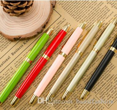 2018 Factory Wholesale Yiwu China Cheap Price High Quality Free Shipping 0.5mm Metal Pen 36pcs/lot Gel Ink Pen 14cm GP065
