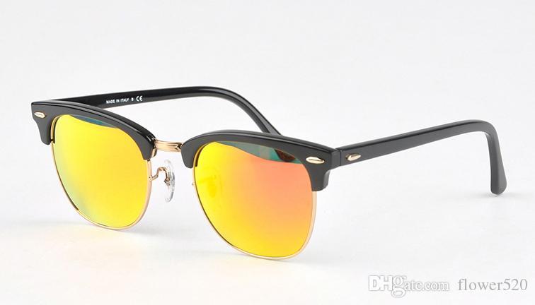 Marka tasarım 2018 Sıcak satış yarım çerçeve erkekler kadınlar için güneş gözlüğü güneş gözlüğü Güneş gözlükleri 51mm açık havada sürüş gözlükleri uv380 Gözlük ile kılıf