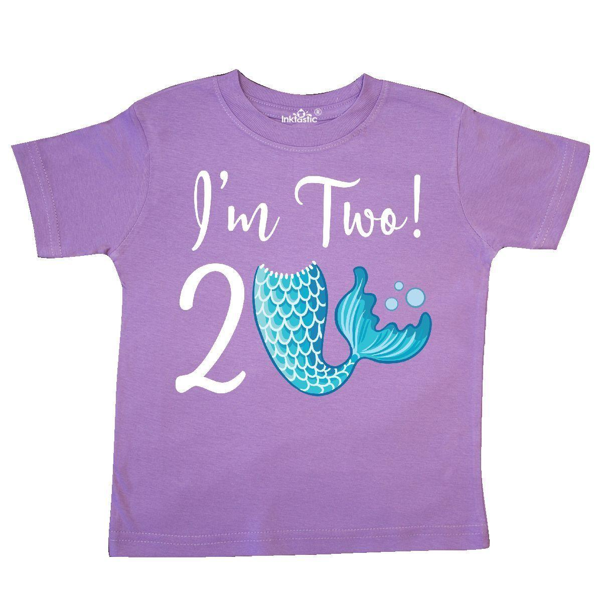 Inktastic 2nd Birthday Girls Mermaid Party Toddler T Shirt 2 Year Old Two Tail Funny Unisex Casual Tee Gift Awesome Shirts Cotton From Spirit