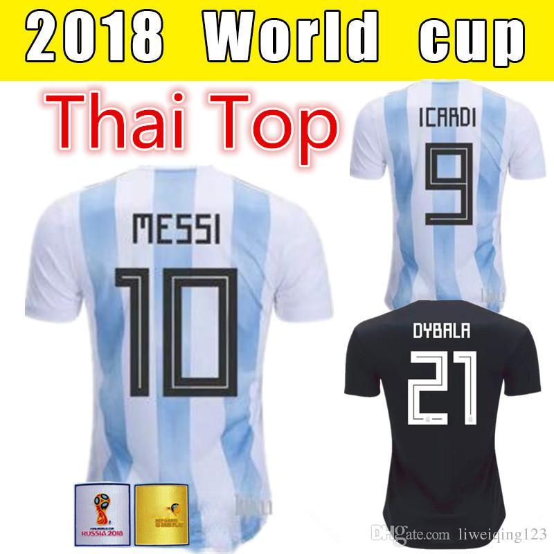 95e8c5558 2019 2018 World Cup ARGENTINA Soccer Jerseys Camisa De Futebol 10 MESSI  Jersey DYBALA HIGUAIN DI MARIA ICARDI Football Soccer Shirt From  Liweiqing123