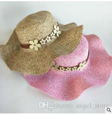 291b5d308a0e New Summer Hand Crochet Hollow Flower Sun Hats For Child Bowknot ...