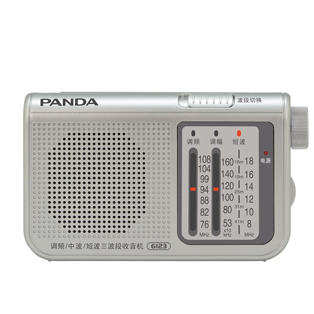 Panda 6123 FM / Medium Wave / Shortwave Three Band Portable Pointer Radio  FM MW SW New Easy to carry
