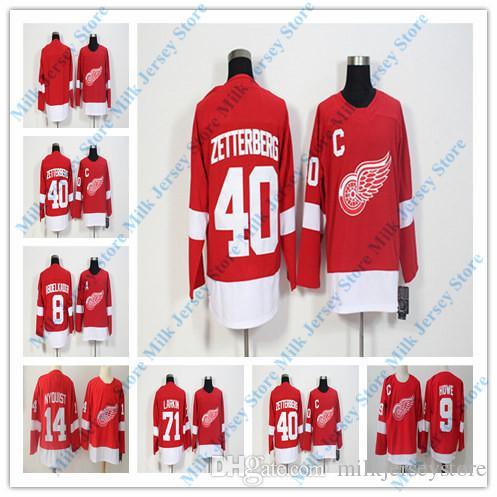 7ec272d5f79 Detroit Red Wings Jersey 8 Justin Abdelkader 14 Gustav Nyquist 40 ...