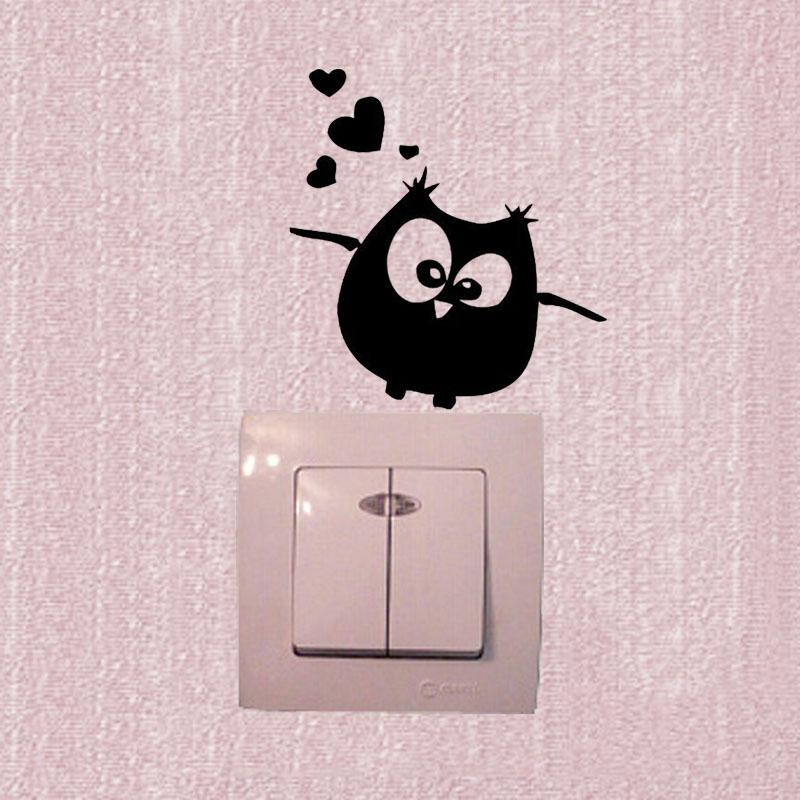 wall stickers owl birds branch heart for kids baby room vinyl wall