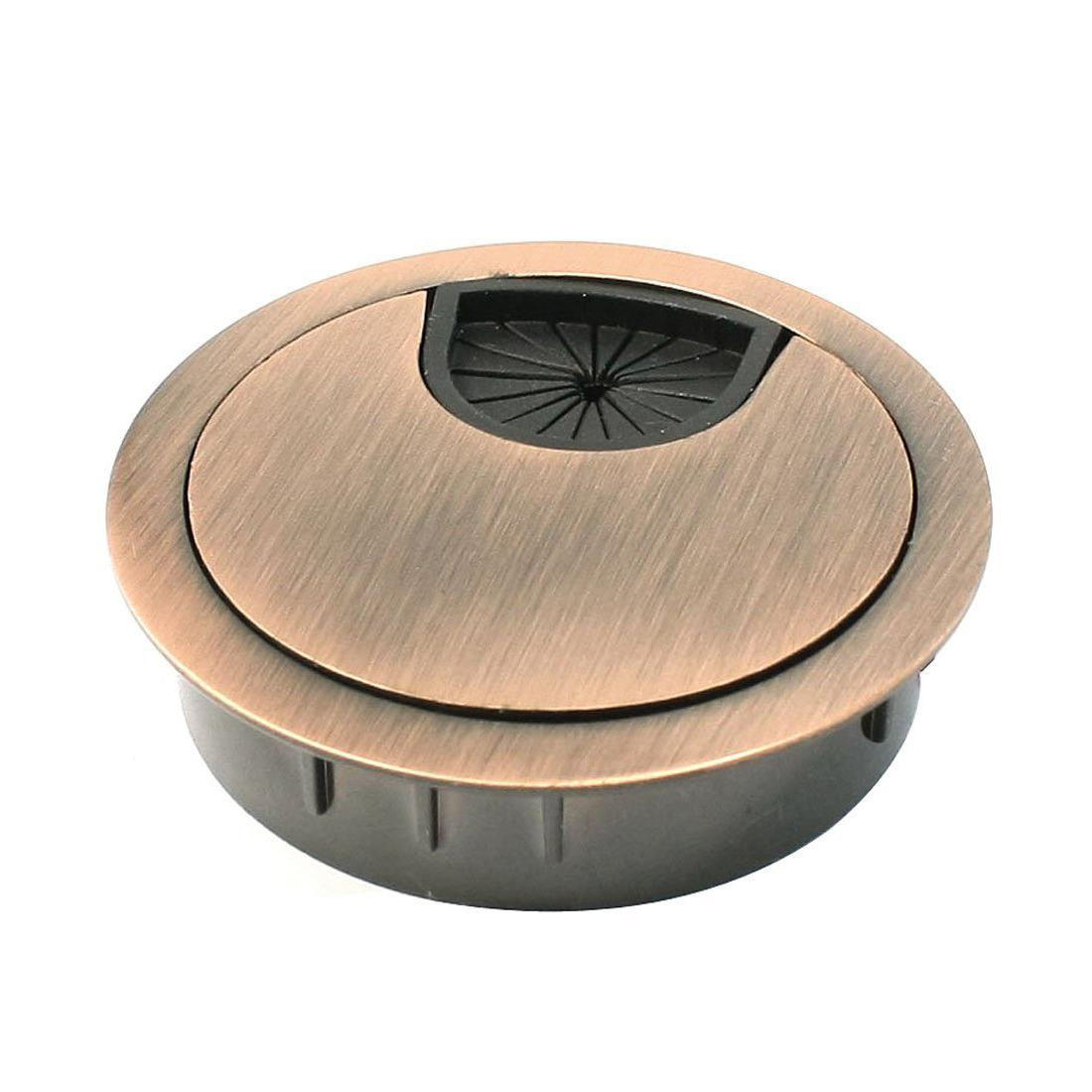 Furniture Hole Cover #43 - Computer Desk Metal Grommets Wire Cable Hole Round Cover Red-bronze Desk  Wire Grommet Cable Hole Cover Cable Hole Grommet Online With $27.11/Piece  On ...
