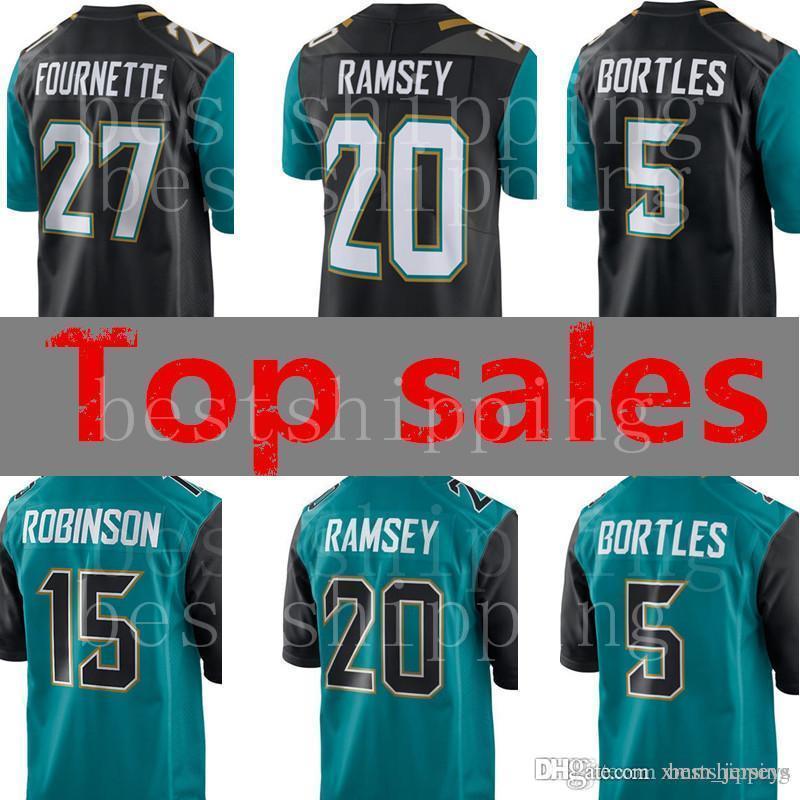 61ecbf68a 2018 Men 27 Leonard Fournette 20 Jalen Ramsey 5 Blake Bortles 15 Allen  Robinson Jersey Jacksonville Jaguars Football Jerseys Stitched Logos From  Xmm jerseys ...