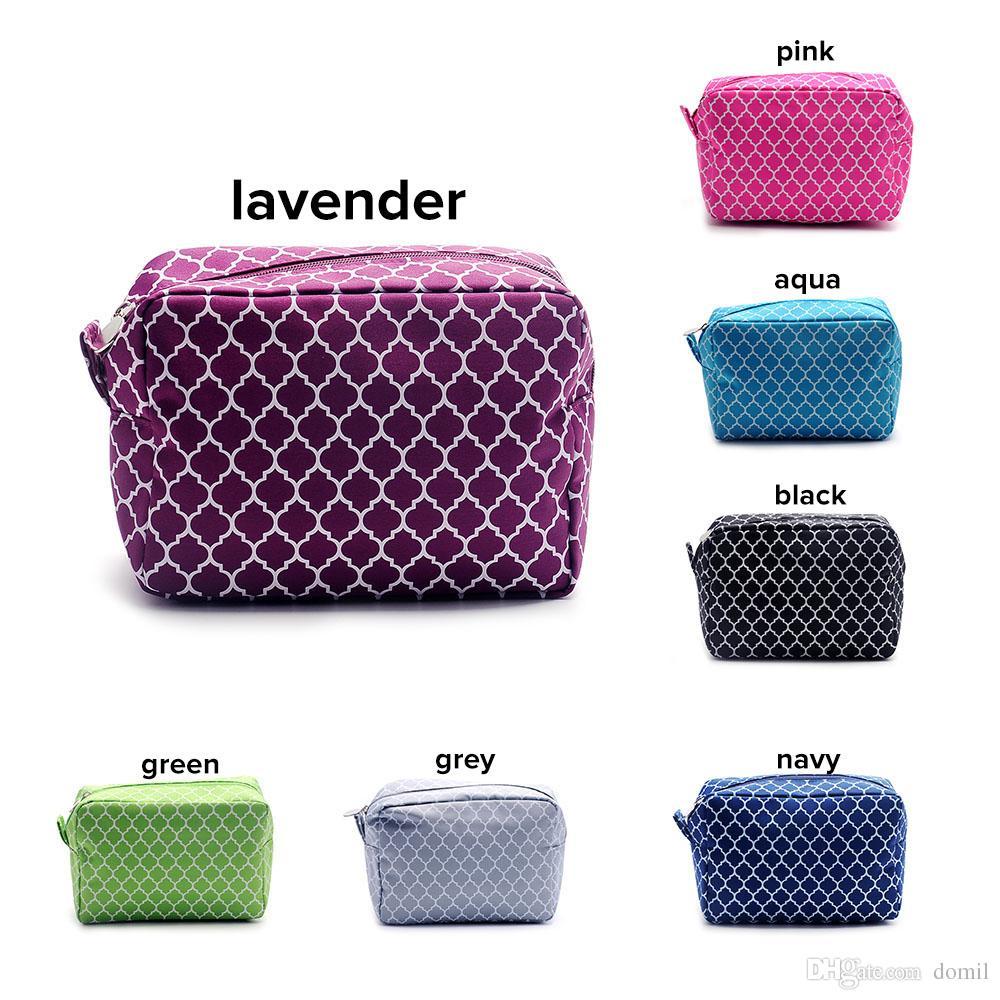 Quatrefoil Makeup Bag Wholesale Blanks 8.5