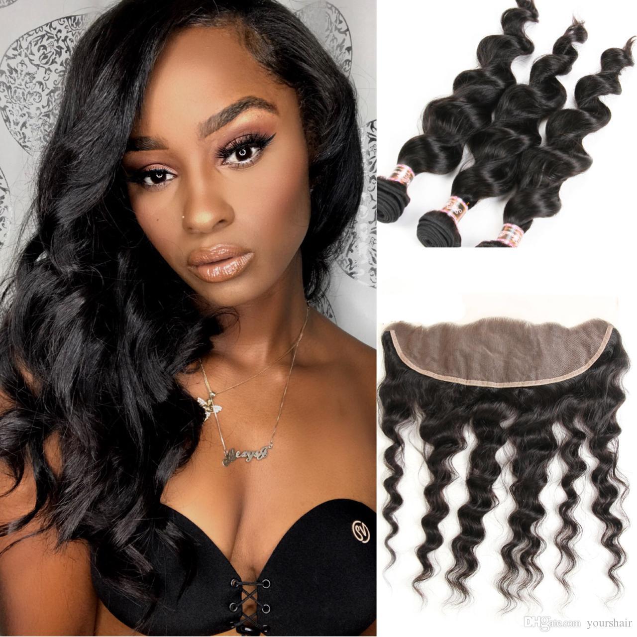 Brazilian Malaysian Mongolian Indian Peruvian Loose Wave Human Hair