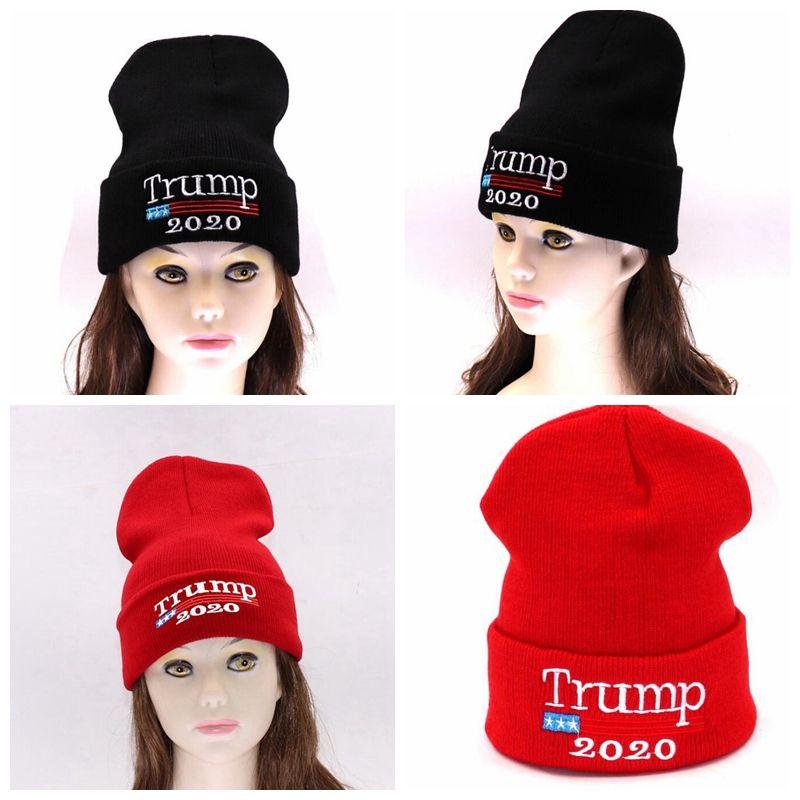 Donald Trump Red Beanies Skullies Hat Re Election Keep America Great  Embroidery Trump 2020 Beanies Caps Winter Warm HAT KKA6172 Newborn Hats  Knit Beanie ... d46558d5010