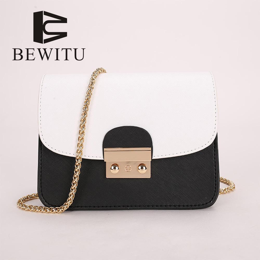 6d8d21b90f3f5 BEWITU Bag Female 2018 New Mini Chain Small Square Bag Ladies Messenger  Korean Fashion Casual Purses Designer Handbags From Lbdshoes