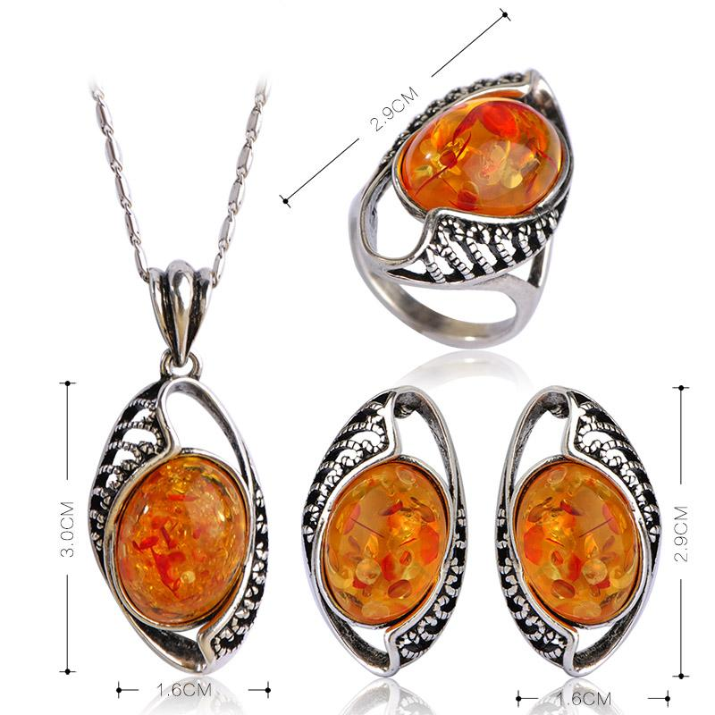 Madrry Upscale Vintage Jewelry Sets Necklaces&Earrings&Rings Antique Silver Color Women Wedding Party Luxury Accessories schmuck