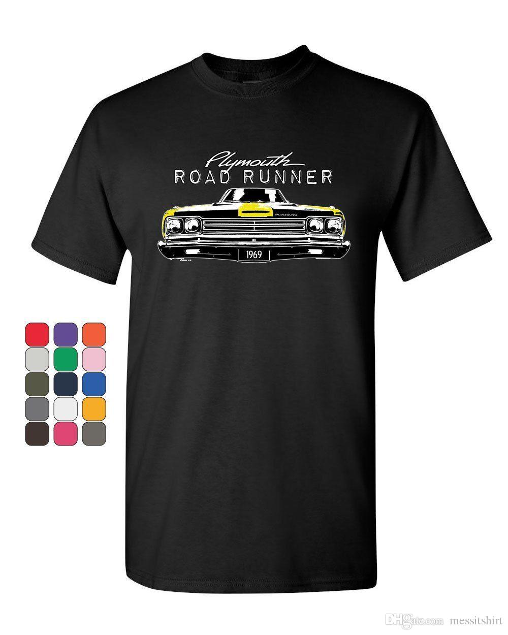 718d12a7 Plymouth Road Runner 1969 T Shirt Route 66 American Made Classic Mens Tee  Shirt Buy Cool Shirts Online Funny T Shirt Sites From Messitshirt, $13.19|  DHgate.