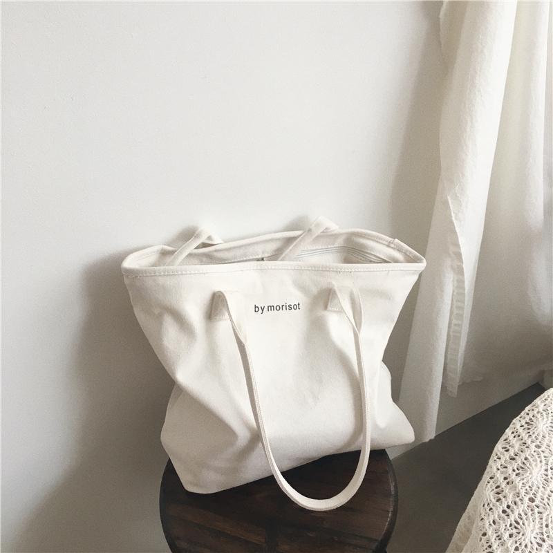 8533f7247b1f 2018 New Women Canvas Tote Bag Fashion Korean Cloth Handbags Solid Color  Leisure Shoulder Bag Large Capacity Crossbody Bags Designer Bags Hobo Bags  From ...