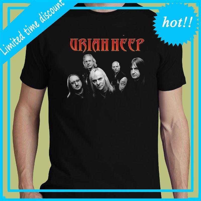 b8a86778cf1 Uriah Heep Tee Dame In Zwart S-3XL T-Shirt Hard Rock Band Mannen Tee ...