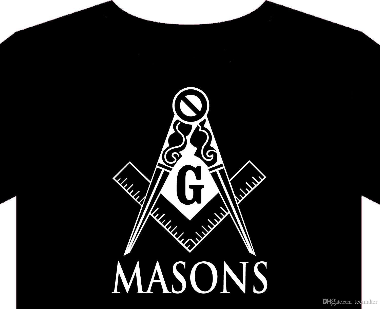 Masonic T Shirt Freemason Masons Grand Lodge Jewel Medal T-Shirt Short  Sleeve Fashion Tshirt