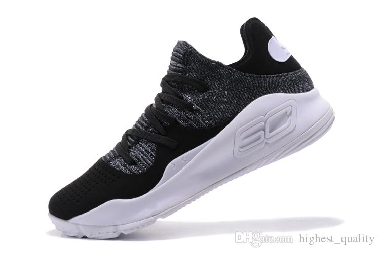 free shipping a1f19 77db7 Hot New Under Armour Ua Curry 4 Low Oreo Mens Basketball Shoes Final Curry4  Athletic Sports Sneakers Cushion Trainers Outdoor Designer Shoes Womens ...
