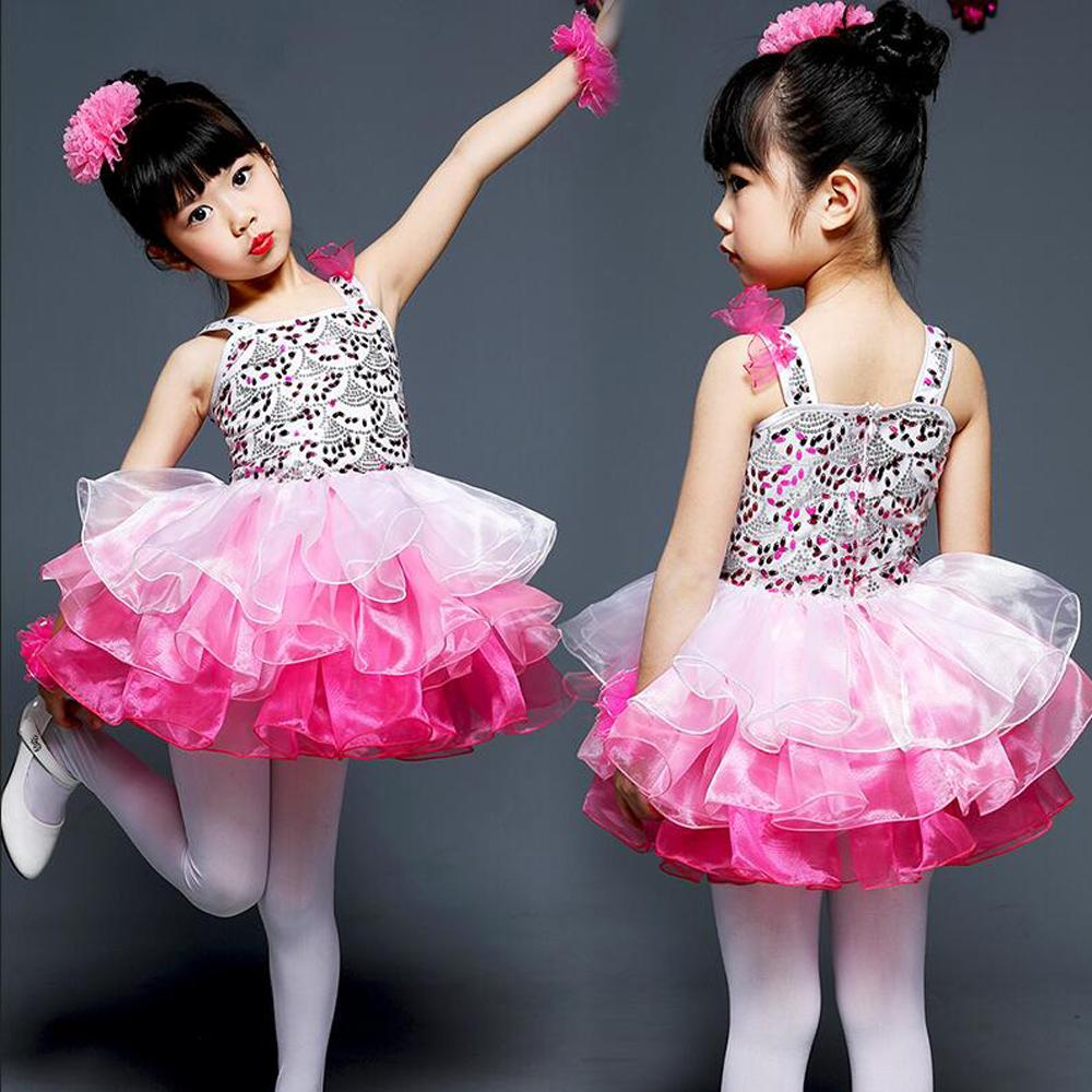 1184915e0066a 2019 Girls Pink Sequined Competition Ballroom Jazz Hip Hop Dance Costumes  Fancy Dress Kids Performance Dancing Dress Outfits Children From Hoeasy, ...