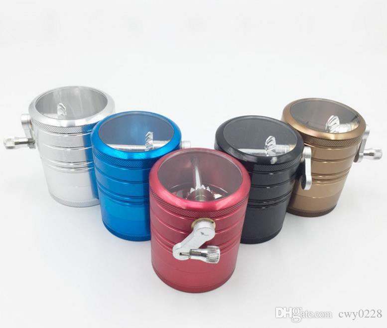 사이드 로커, 흡연자, 대형 알루미늄 합금 분쇄기, 4 층 스모크 커터.