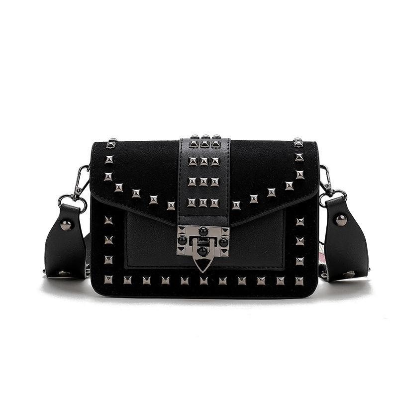 Women S Banquet Shoulder Bag Black Luxury Handbag Designer Bags For Women  2018 Retro Rivet Grind Small Square Bag Money Phone Leather Purse Purses  For Sale ... af3ab3675